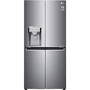 LG GML844PZKV Freestanding  Rated American Fridge Freezer -Steel