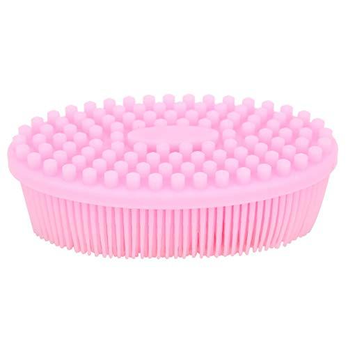 Cepillo de silicona para el cuero cabelludo, cepillo de masaje suave, agradable para la piel, no tóxico para masaje del cuero cabelludo, masaje corporal para bebés, adultos(Pink)