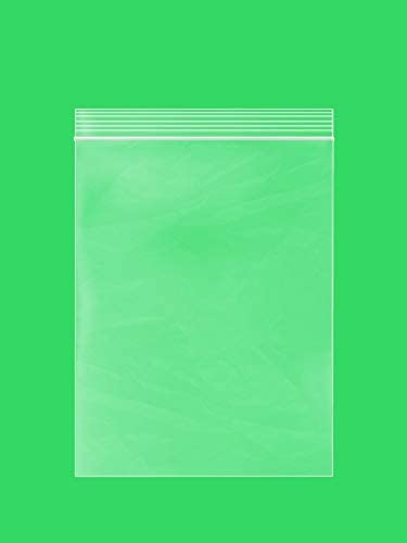 Clear Plastic RECLOSABLE ZIPLOCK Bags Bulk GPI Case of 1000 8 x 10 2 mil Thick Strong Durable product image