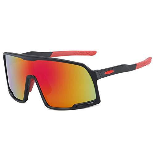 CCCMS Gafas de Sol Lente Espejo 100% UV Bloqueo Ciclismo Running Gafas de Sol Deportivas al Aire Libre Polarizadas para Hombres y Mujeres