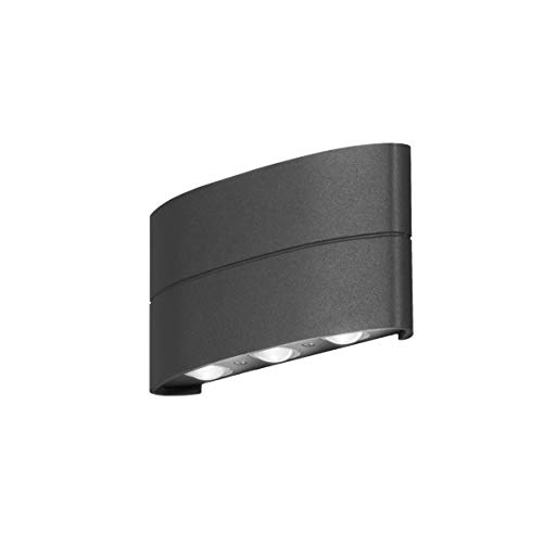 Konstsmide 1x 7853-370 Chieri up Down wandlamp, aluminium, antraciet