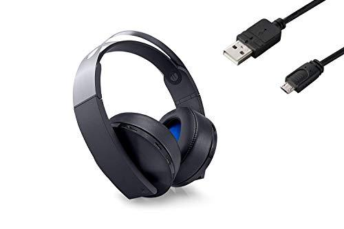 プレミアムワイヤレスサラウンドヘッドセット【Amazon.co.jp特典】CYBER PS4用コントローラー充電ケーブル3m