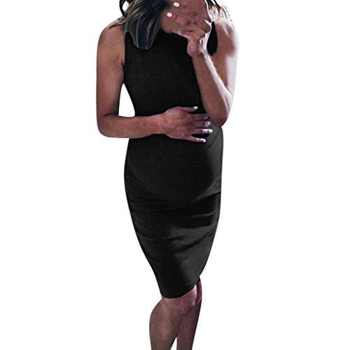 Vestido Mujer Nuevo Promociones Impresión Sin Mangas MaternidadVestidoApoyos Bodycon Vestimenta Casual Ropa Premamá