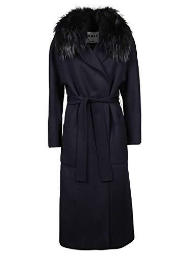 Luxury Fashion | S.w.o.r.d 6.6.44 Dames 8265BLUE Donkerblauw Wol Mantels | Herfst-winter 19