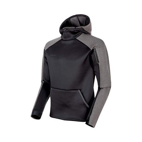 Mammut Herren Logo Midlayer Pullover mit Kapuze, Black, XL