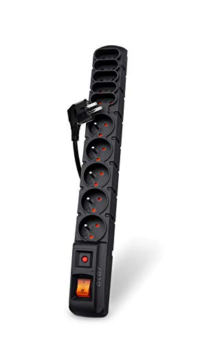 acar S10/5m 10-voudige stekkerdoos met overspanningsbeveiliging (incl. 5 m kabel)