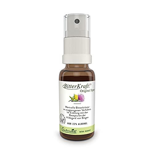BitterKraft!® Original Spray 20 ml | Bitterstoffe nach Hildegard von Bingen | bio & vegan | bei Magenbeschwerden & Darmträgheit