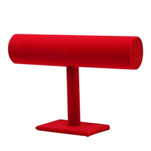 YUTRD ZCJUX Soporte de Pantalla de una Sola Capa de Franela, Soporte de Pulsera, Soporte de Pulsera, Gran diseño Rojo