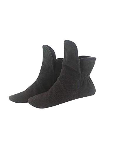 RAIKOU Hausschuhe für Damen, Herren aus Micro Fleece mit ABS und Rutschfester Sohle Größe,Super Flauschige Hüttenschuche (37-40, Zinn)