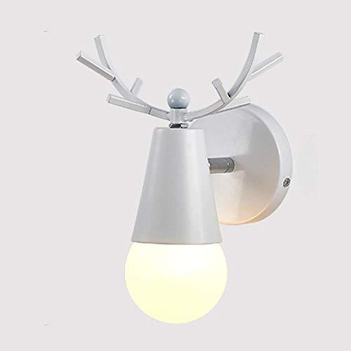 Meixian Moderne, metalen wandlamp, E27 Creative Wood Decoratieve Antlers wandlamp voor slaapkamer gang balkon nachtlampje eenvoudig retro