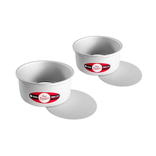 Fat Daddio's PCC-63PK Anodized Aluminum Round Cheesecake Pans, 2 Piece Set, 6 x 3 Inch