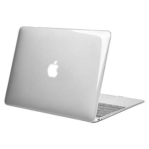 MOSISO Plastic Hard Shell Case Cover Compatible with MacBook 12 Inch Retina Display Model A1534 (Version 2017 2016 2015), Clear/Crystal