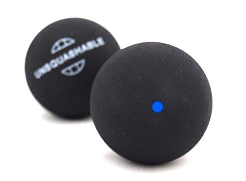 Unsquahable Squashbälle, 2er Pack, schwarz ,Blau Punk