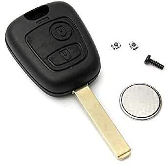 Coque de clé télécommande clip à 2 boutons pour Totota Aygo/Peugeot / Citroen