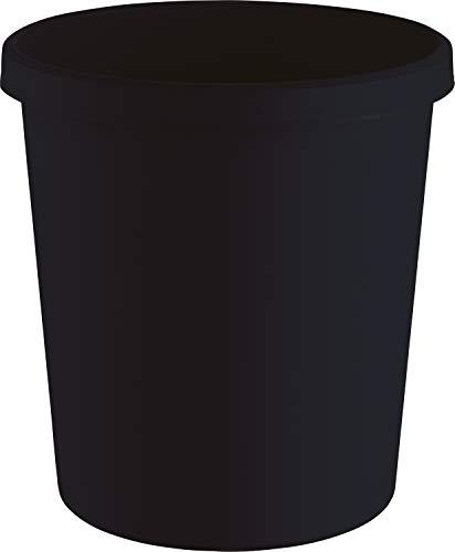 "Helit H6405895 - Papierkorb ""the green german"", 18 Liter, aus Recycling-Kunststoff Blauer Engel zertifiziert, schwarz, 1 Stück"