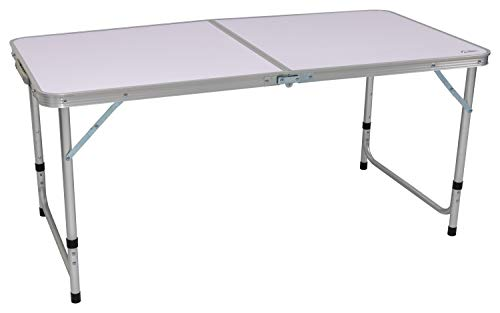 Andes 4ft Adjustable Folding Table, Portable Outdoor Dining Camping Kitchen Work Top