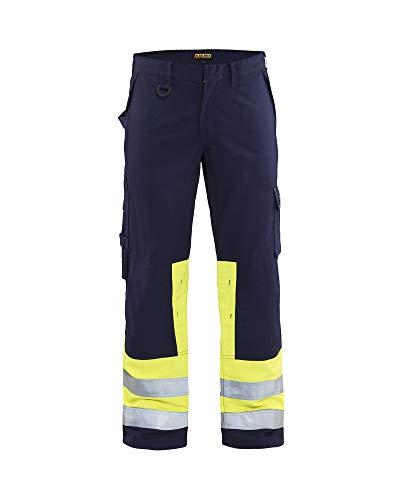 Blaklader Workwear Multinorm Arbeitshose 1478 - Herren Größe 27 (Schweden D108) Marineblau/Gelb