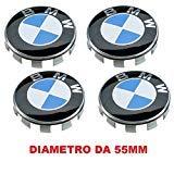 4 Kappen Nabendeckel Kompatibel für BMW 55 mm Serie 1 2 3 4 5 6 7 m Z X Nieten Felgen Legierung