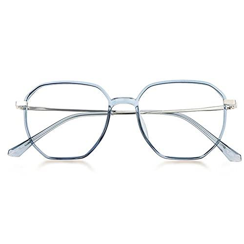 JUNZ Gafas de Lectura Multifocales Progresivaspara Hombres y Mujeres, 2.75 Lector de Computadora con Bloqueo de Luz Azul,Marco Poligonal de Moda,Negro