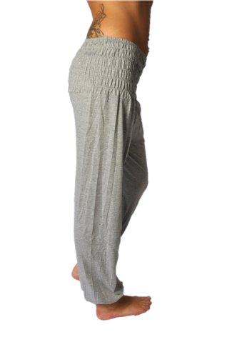 Aladin, pantaloni in stile orientale, di misura universale grigio chiaro Taglia universale