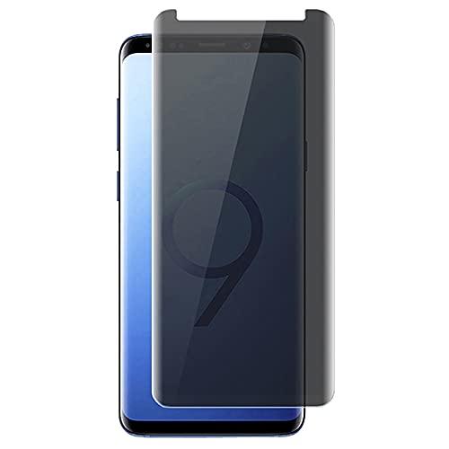 Iiseon Privacy Vetro Temperato Compatibile con Samsung Galaxy S9 Plus, 2 Pezzi Anti-Spy Pellicola Protettiva [Durezza 9H] [AntiGraffio] [Ritaglio preciso] [Case Friendly]
