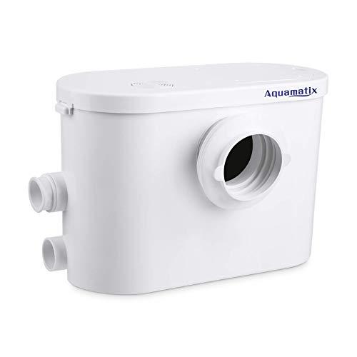 Aquamatix Silencio 3 Trituratore Pompa Maceratore per WC, Doccia, Vasca, Lavandino Silenzioso con filtro a carbone integrato 400W