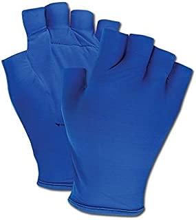 Magid Glove & Safety ATV101-M Magid ATV101 Fingerless Gel Palm Padded Impact Glove, 8x15.5, Blue, Medium