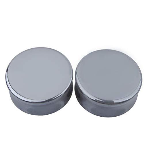 TENDYCOCO 1 par 12 mm Kit de dilatadores para Orejas joyería Piercing del Cuerpo (Negro)