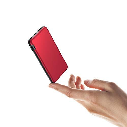 ButcHer Powerbank 10000mAh, Caricatore Portatile con Ingresso USB-C, Rosso