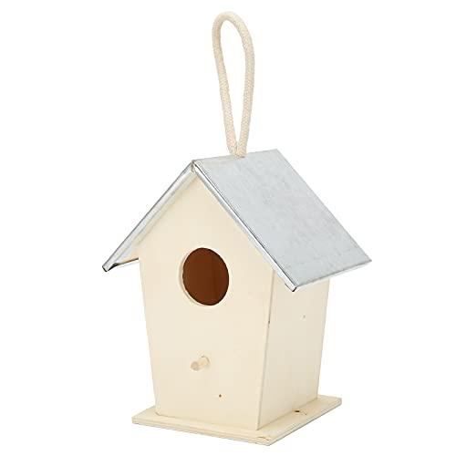 SALALIS Gabbia per nidificazione di Uccelli, casetta per Uccelli anticorrosiva da Appendere per Accessori Decorativi da Giardino
