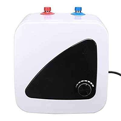 Tankless Electric Water Heater,SEAAN Mini Instant Hot WaterTank 2.1 Gallons 1.5KW Household Water Heater with Digital Display Under Sink with Cord Plug Temperature Adjustable