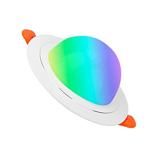 LED Wifi Downlights Control De Voz/APP Malla Luces De Techo Empotradas Compatible Con Alexa Y Google Assistant RGBW Regulable Downlights Para Home Bar KTV Puede Luces,Ufo