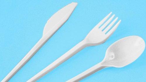 100 Messer, PS 16,5 cm weiss Einwegmesser Plastikmesser