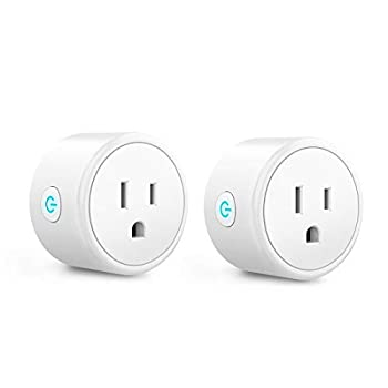 Mini Smart Plugs - Aoycocr Bluetooth WiFi Outlet Compatible with Alexa Google Home Assistant Remote Control with Timer Function Switch,ETL/FCC/Rohs Listed Socket 2 Pack