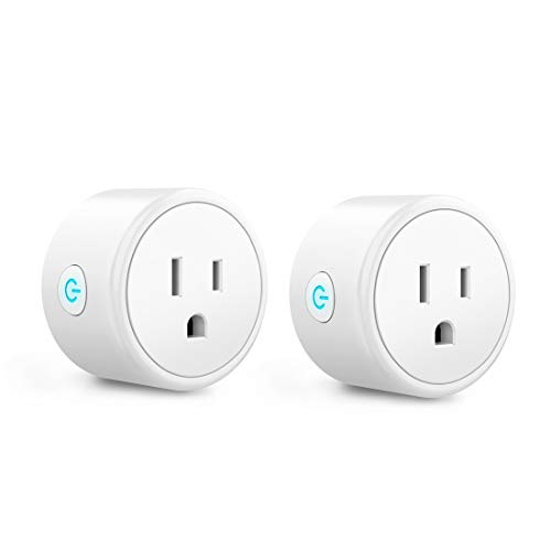 Mini Smart Plugs - Aoycocr WiFi Outlet Compatible with Alexa, Google Home Assistant, Remote Control with Timer Function Switch,ETL/FCC/Rohs Listed Socket, White(2 Pack)