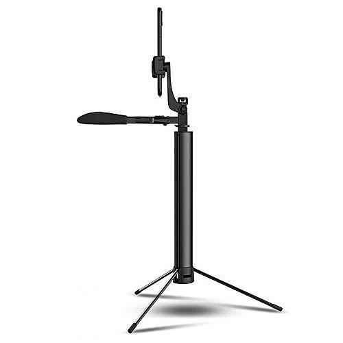 Selfie Stick Plegable cardán Bluetooth del teléfono móvil del trípode estabilizador anti-vibración Deporte selfie Palo Con luz de relleno Para La Familia De Viaje ( Color : Black , Size : One size )