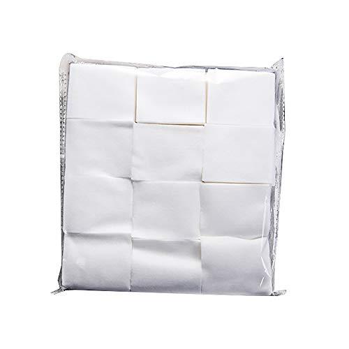 TOMYEER Coussinets de Coton de Maquillage Non Pelucheux en Coton pour enlever Les Coussinets de Nettoyage carrés pour Le Visage Mince, Doux et cosmétique de 1000 pièces