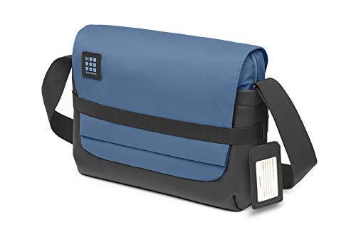 Moleskine- Borsa a Tracolla da Lavoro Device Bag per Tablet, Laptop, PC, Notebook e iPad finoa 15'', Dimensioni 39 x 13 x 28 cm, Colore Blu Boreale