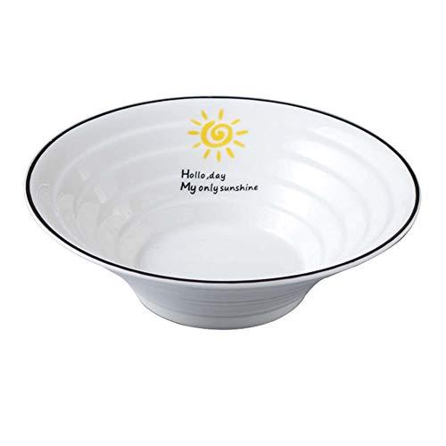 Service Vaisselle 2 Pièces, Bol à Salade/Ramen Bol/Bol à Soupe, Ustensiles En Céramique 1000mL (blanc) 9 Po