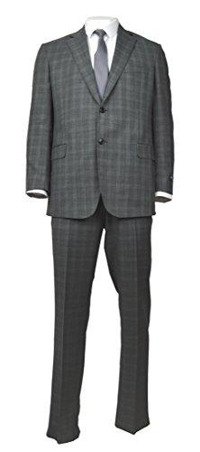 Brooks Brothers Men's Regent Fit Wool Suit Separates Trouser, Navy Blue Micro Grid (42x30)