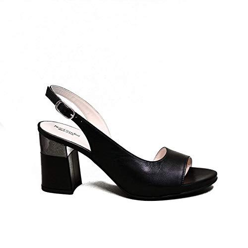 Nero Giardini elegante vrouw sandaal met hoge zwarte hakken E012861DE artikel 100 nieuwe collectie lente zomer 2020