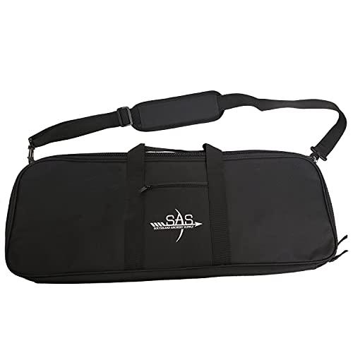 SAS Recurve Takedown Bow Case with Detachable Shoulder Sling and Pockets (Black)