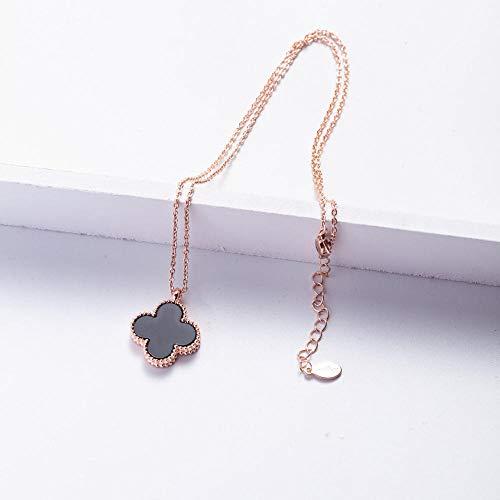B/H Klee Halskette Schlüsselbein Kette-Rose Gold