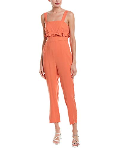 BCBGeneration Damen Ruffle Ankle Jumpsuit, Canyon Clay, 38