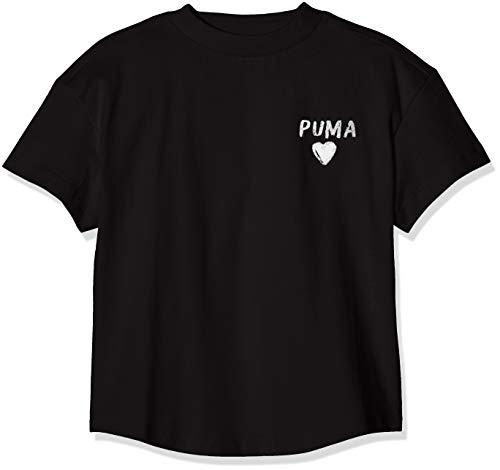 PUMA Mädchen Alpha Trend Tee G T-shirt, Black, 140