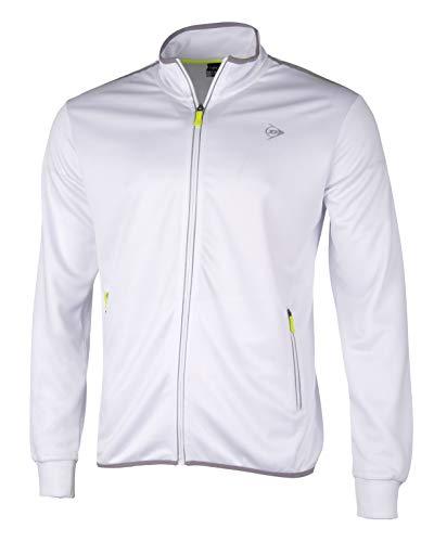 Dunlop Herren Club Line Men Knitted Jacket, White, XXL