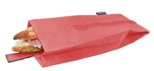 NERTHUS Bolsa para Bocadillo Reutilizable roja, ecológica,