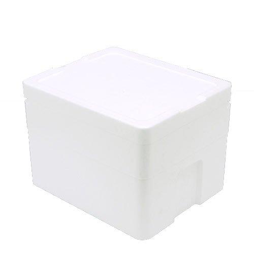 発泡スチロール箱(中)TI-220-2(幅40×奥行33×高さ26cm) フタ付き お一人様1点限り