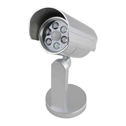 Sécurité Lampe murale plastique argent 6LED sécurité détecteur de mouvement