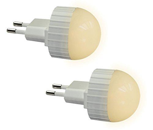 Trango 2er Pack LED Steckerlicht Wandlampe Steckdosenlampe Orientierungslicht Kinderlicht Nachtlicht Steckdose TG11-26L Sicherheitslicht mit Helligkeitssensor Auto AN/AUS
